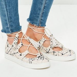 Missguided Lace Up Sneakers